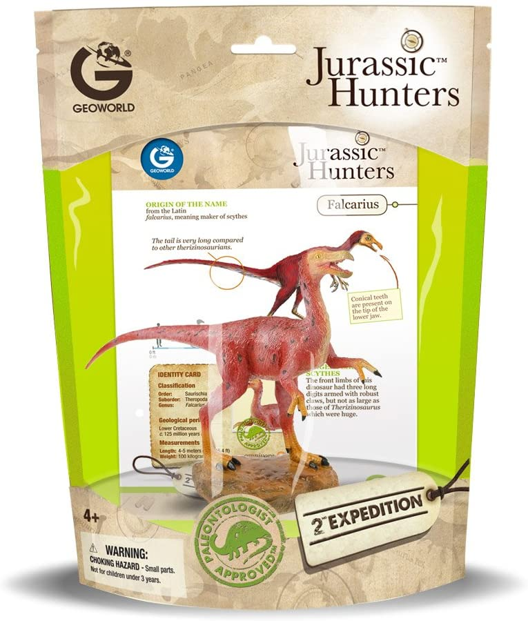 Dinossauro Falcarius: Jurassic Hunters (Colecionável) - Geoworld