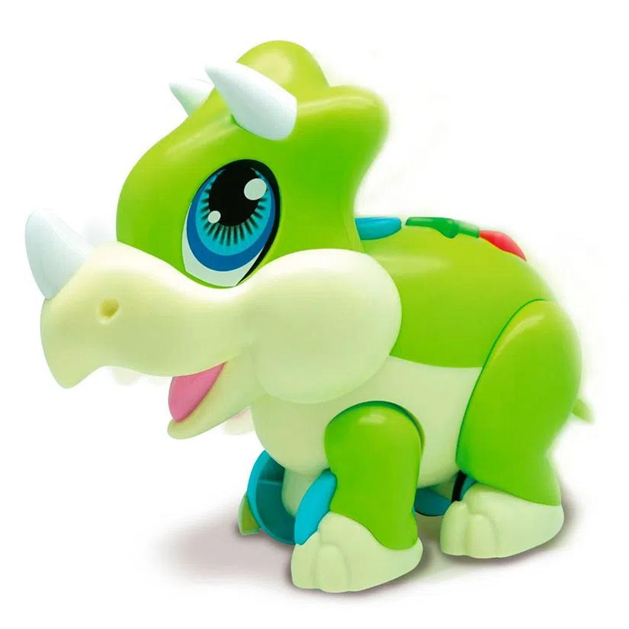 Dinossauro Tricerátopo Baby Musical (Dino Interativo) Junior Megasaur - FUN
