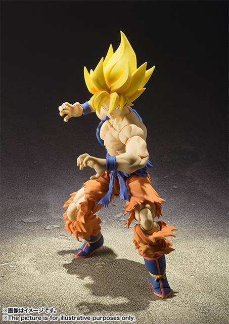 Boneco Son Goku Super Saiyajin: Dragon Ball Z Super Warrior Awakening S.H Figuarts - Bandai