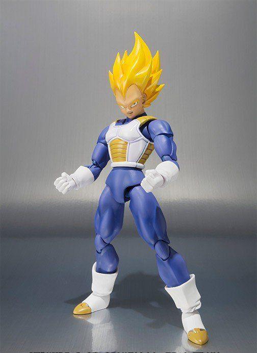Boneco Vegeta Super Sayajin : Dragon Ball Z (P.C.E) S.H Figuarts - Bandai - Black Friday (Apenas Venda Online)