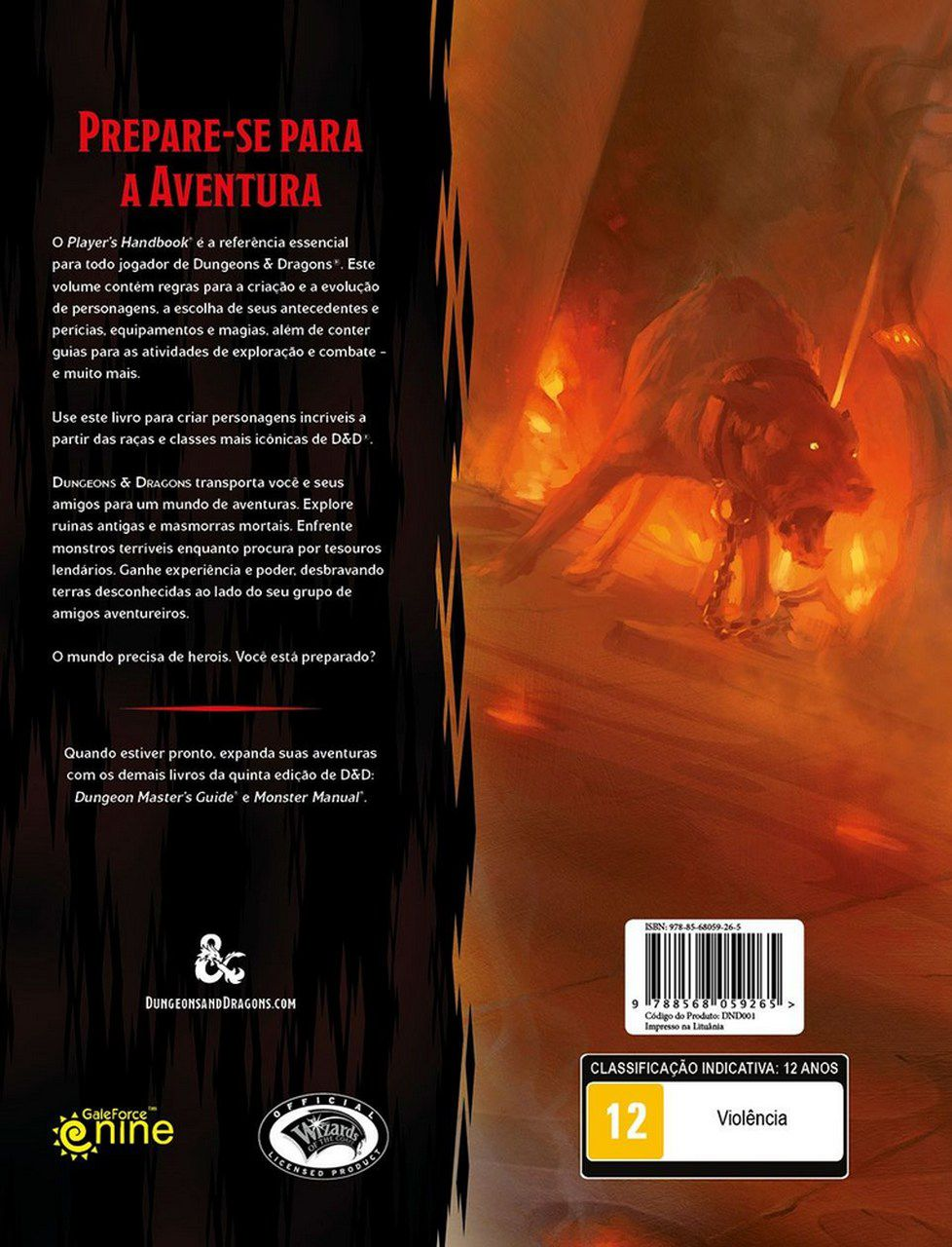 Dungeons and Dragons Player's Handbook (5ª Edição) (Board Games) - Galápagos Jogos