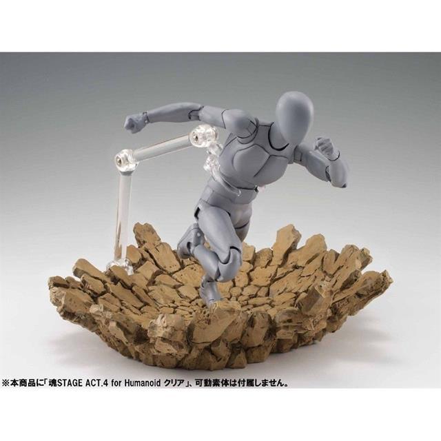 Efeito de Impacto Bege Display Tamashii - Bandai