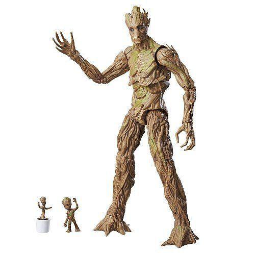 Boneco Groot: Guardiões da Galáxia: Marvel Legends Versão Exclusiva - Hasbro