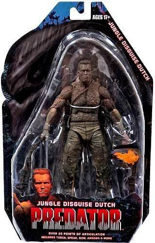 Boneco Jungle Disguise Dutch (Arnold Schwarzenegger): Predador / Predator 1987 30th Anniversary Series 9 - NECA