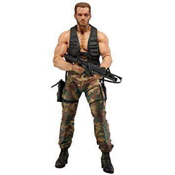 Boneco Jungle Encounter Dutch (Arnold Schwarzenegger): Predador / Predator 1987 30th Anniversary Series 9 - NECA