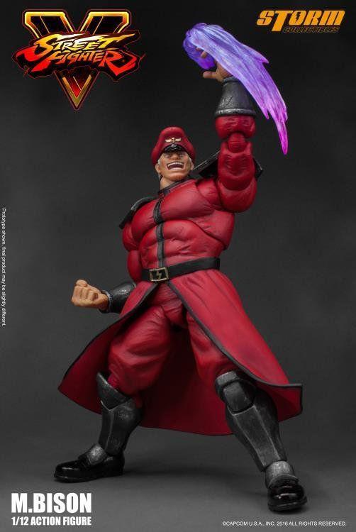 Boneco M. Bison: Street Fighter V Escala 1/12 - Storm Collectibles  (Apenas Venda Online)