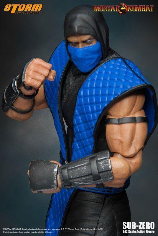 Boneco Sub-Zero: Mortal Kombat Classic 1/12 - Storm Collectibles