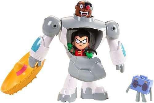 Boneco Cyborg e Robin: Teen Titans Go! DC Comics Screen Scenes