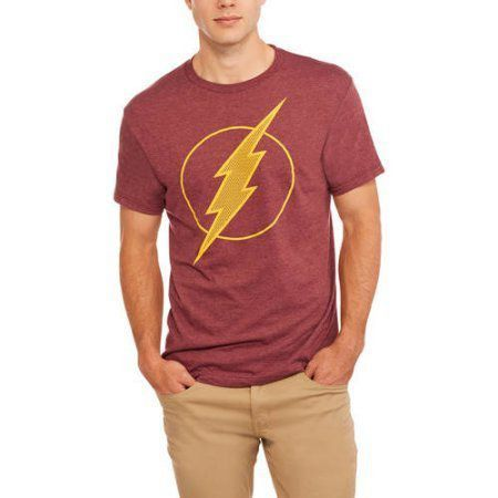 Camiseta Logo Flash: DC Comics Vermelha e Amarela