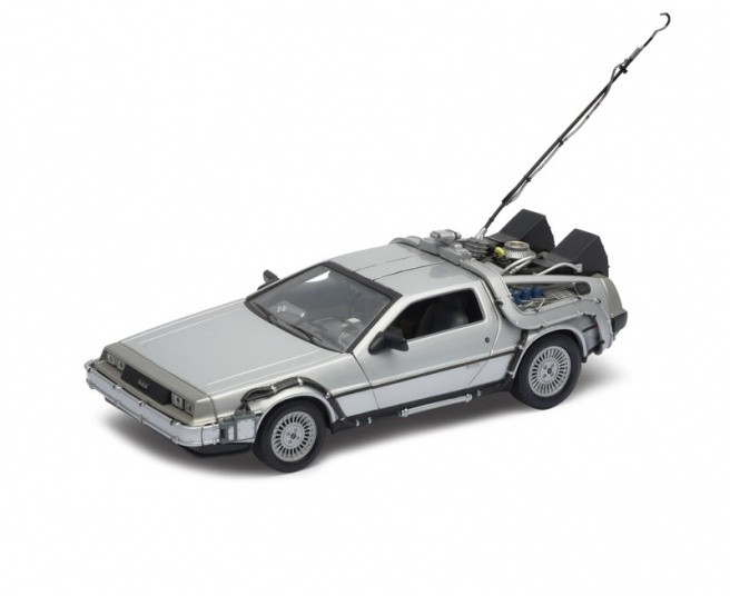 Carro DeLorean: De Volta Para o Futuro 1 (Back to the Future I) Escala 1/24 - Welly
