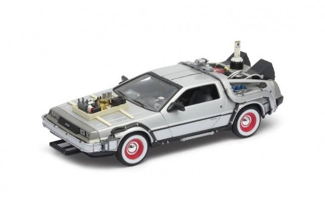 Carro DeLorean: De Volta Para o Futuro 3 (Back to the Future III) Escala 1/24 - Welly