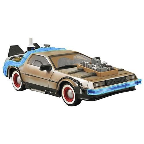 Carro DeLorean Mark I Time Machine: De Volta Para o Futuro 3 Escala 1/18 - Diamond Select