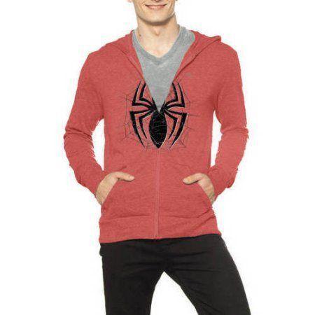 Casaco com zíper Homem-Aranha (Spider-Man): Marvel Vemelha com Aranha Preta