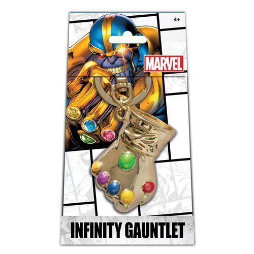 EM BREVE: Chaveiro Manopla do Infinito (Infinity Gauntlet): Thanos Exclusive Gold Pewter Version - Monogram