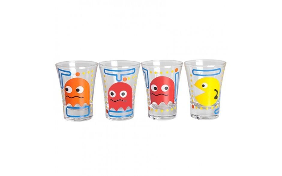 Copo Dose (Shot) Pac-Man (Set 4 Peças)