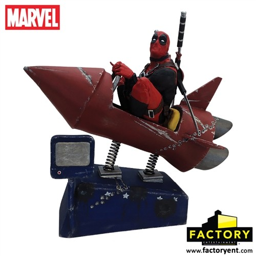Estátua Deadpool Rocket Ride Premium Motion - Factory Entertainment