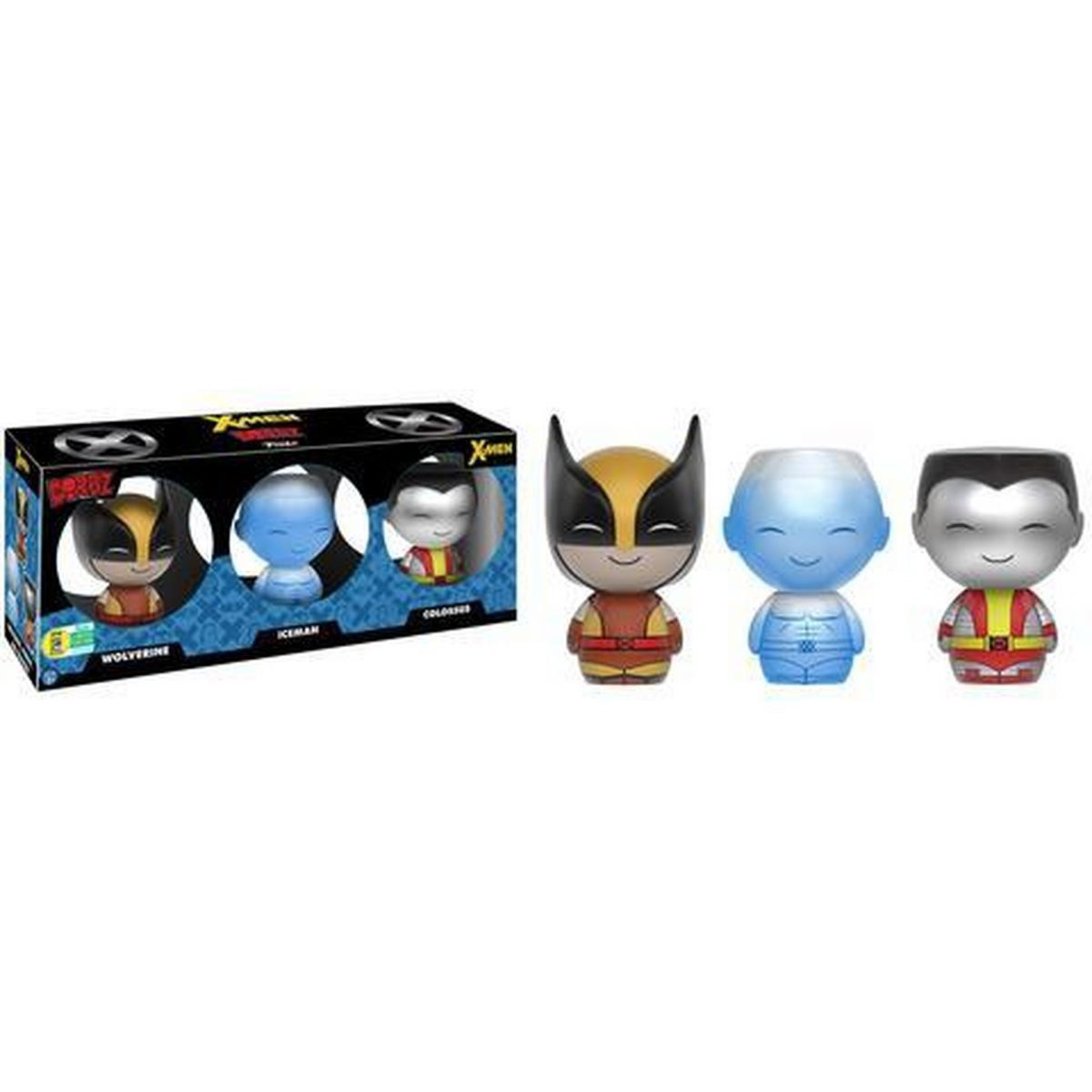 Funko Dorbz Marvel: Pack X-Men: Wolverine, Ice-Man e Colossus - Funko