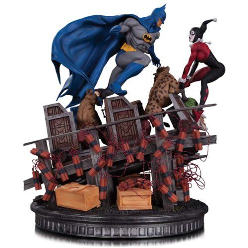 EM BREVE: Estátua Batman Vs Harley Quinn: DC Comics Battle Statues - DC Collectibles.