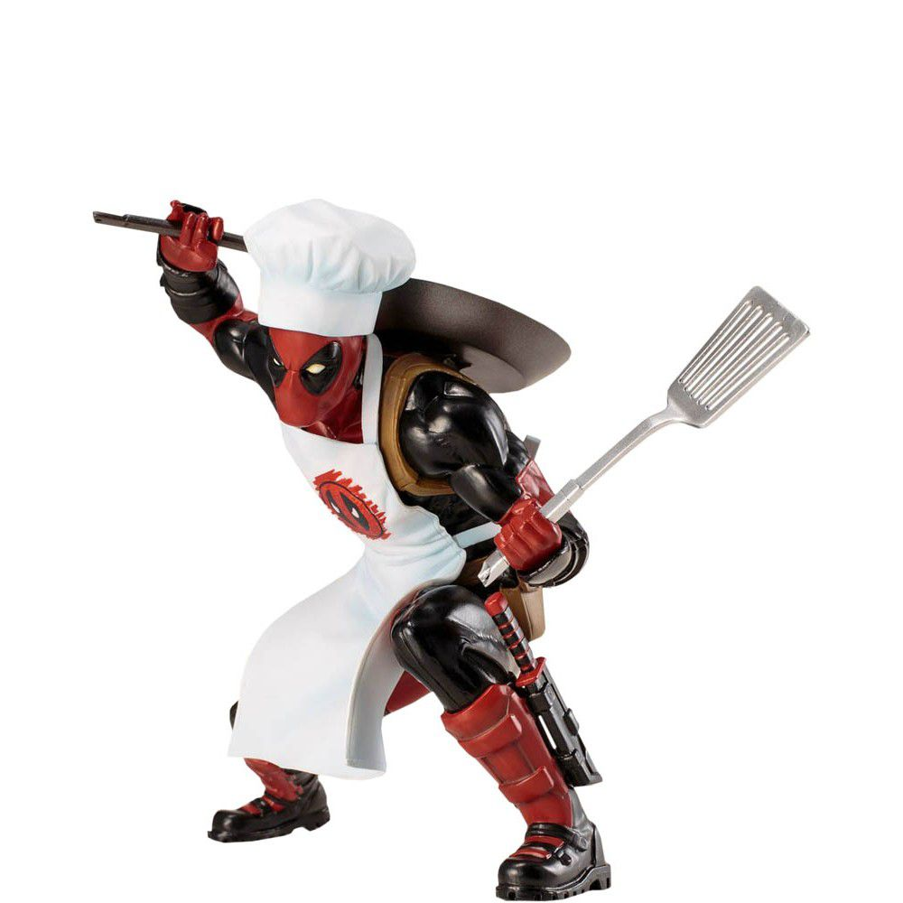 Estátua Deadpool Cooking Escala 1/10 - Marvel - ArtFX+ Marvel - Estátua Kotobukiya