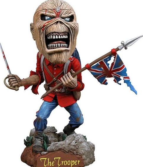 Estátua Eddie The Trooper: Iron Maiden Head Knockers - NECA