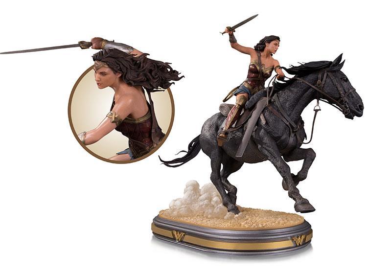 Estátua Mulher Maravilha no Cavalo (Wonder Woman on Horse): Deluxe Statue Escala 1/6 - DC Collectibles