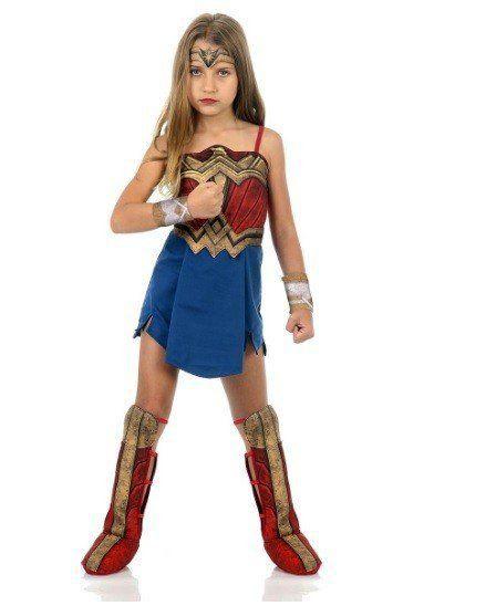 Fantasia Infantil Mulher Maravilha (Wonder Woman): Batman vs Superman: A Origem da Justiça