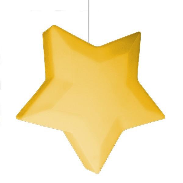 Luminária Pendente Estrela Amarela