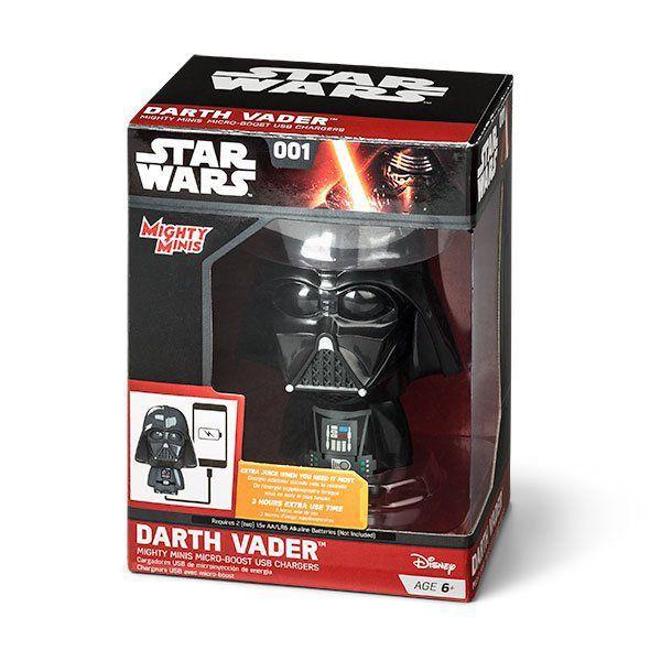 Mini Carregador (Power Bank) Darth Vader: Star Wars USB Mighty Minis