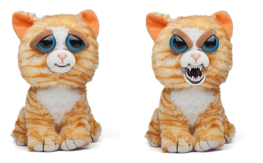 Pelúcia Gato Amarelo (Tati Trocatapa): Feisty Pets (Bonzinho/Malzinho)