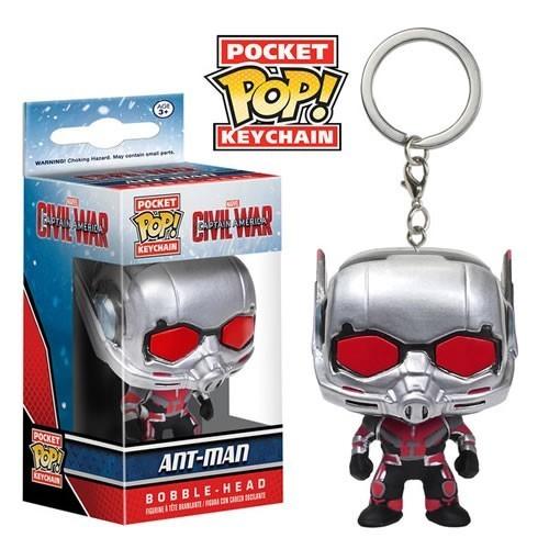 Funko Pocket Pop Keychains (Chaveiro): Homem Formiga (Ant-Man): Capitão América 3 Guerra Civil - Funko