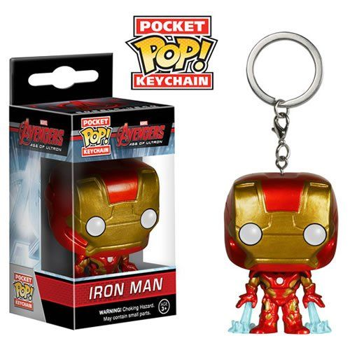 Pocket Pop Keychains (Chaveiro) Iron Man: Avengers 2 Age Of Ultron Movie - Funko