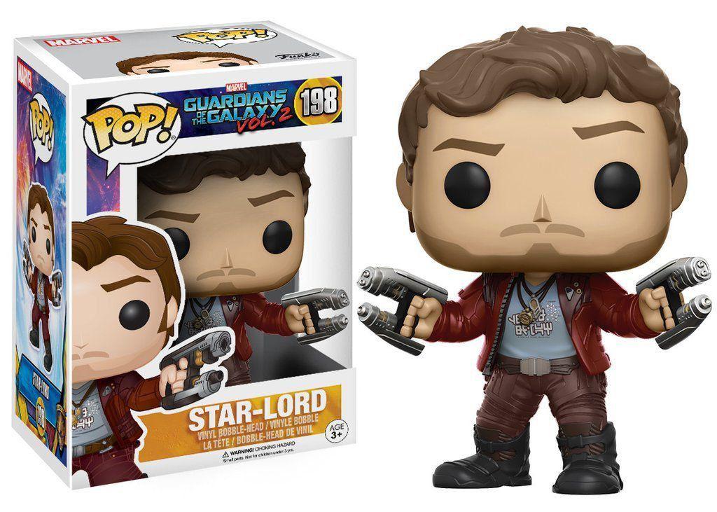 Funko Pop! Senhor das Estrelas (Star-Lord): Guardiões da Galáxia Vol.2 #198 - Funko