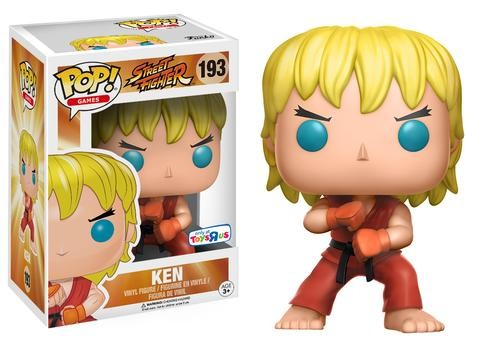Funko Pop Ken (Posição de Ataque): Street Fighter Exclusivo #193 - Funko