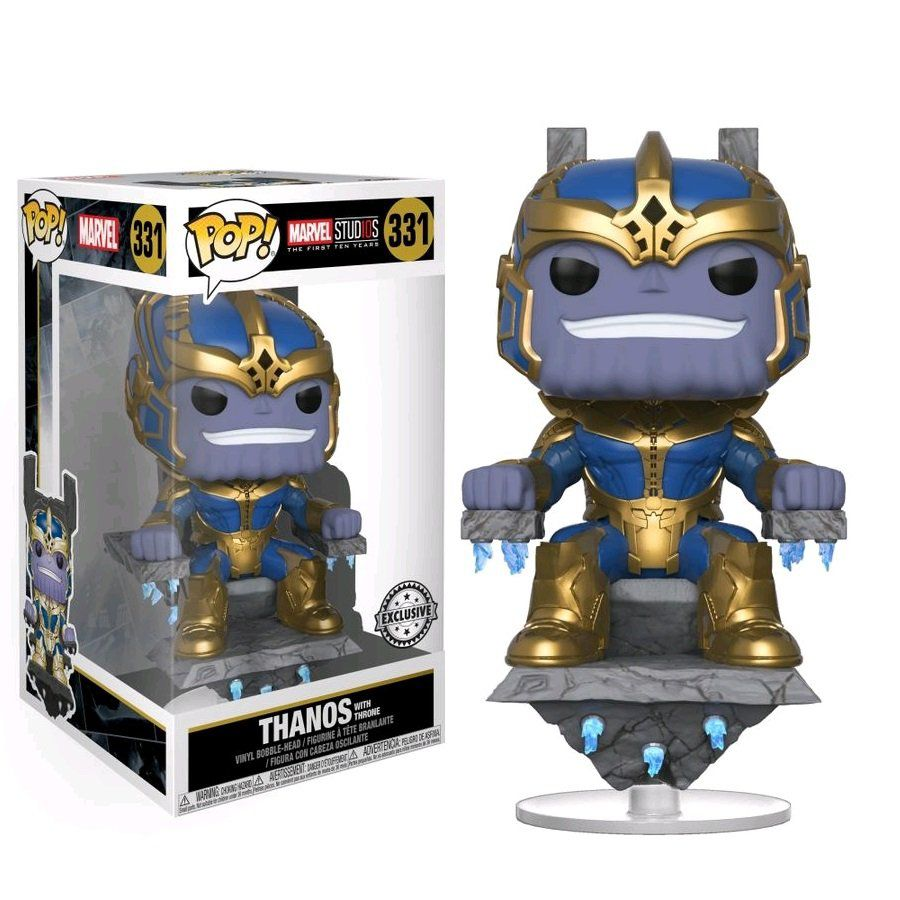 Pop! Thanos with Throne: Marvel Studios The First Ten Years (Exclusivo) #331 - Funko