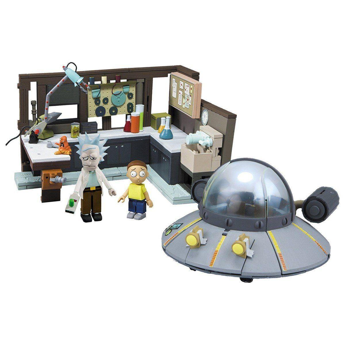 PRÉ VENDA: Set de Construção Rick and Morty: Nave espacial e Garagem com 293 Peças - Mcfarlane Toys