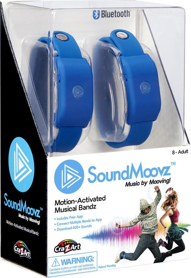 SoundMoovz Musical Bandz Cra-Z-Art - Faça seu Próprio Som (Pulseira Azul)
