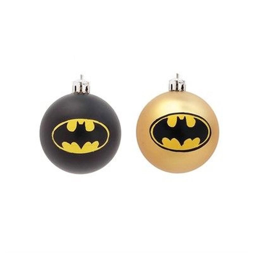 Kit Com 4 Bolas Enfeite Árvore de Natal Geek Batman (Grande 8cm): DC Comics