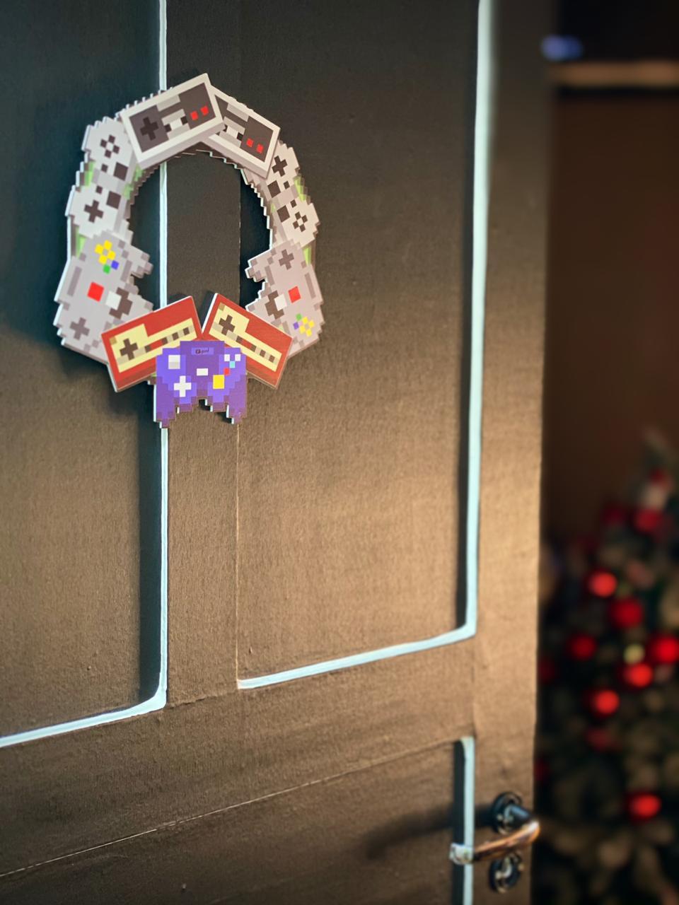 Enfeite Árvore de Natal Geek Controles Retro