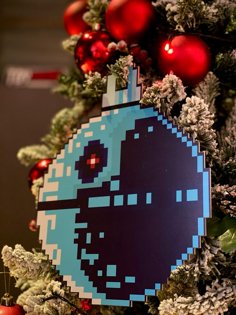 Enfeite Árvore de Natal Geek Estrela Da Morte: Star Wars