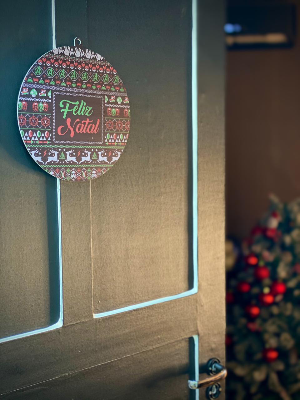 Enfeite Árvore de Natal Geek ''Feliz Natal''