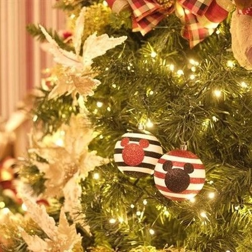 Kit Com 4 Enfeites Árvore de Natal Geek Mickey Mouse: Disney