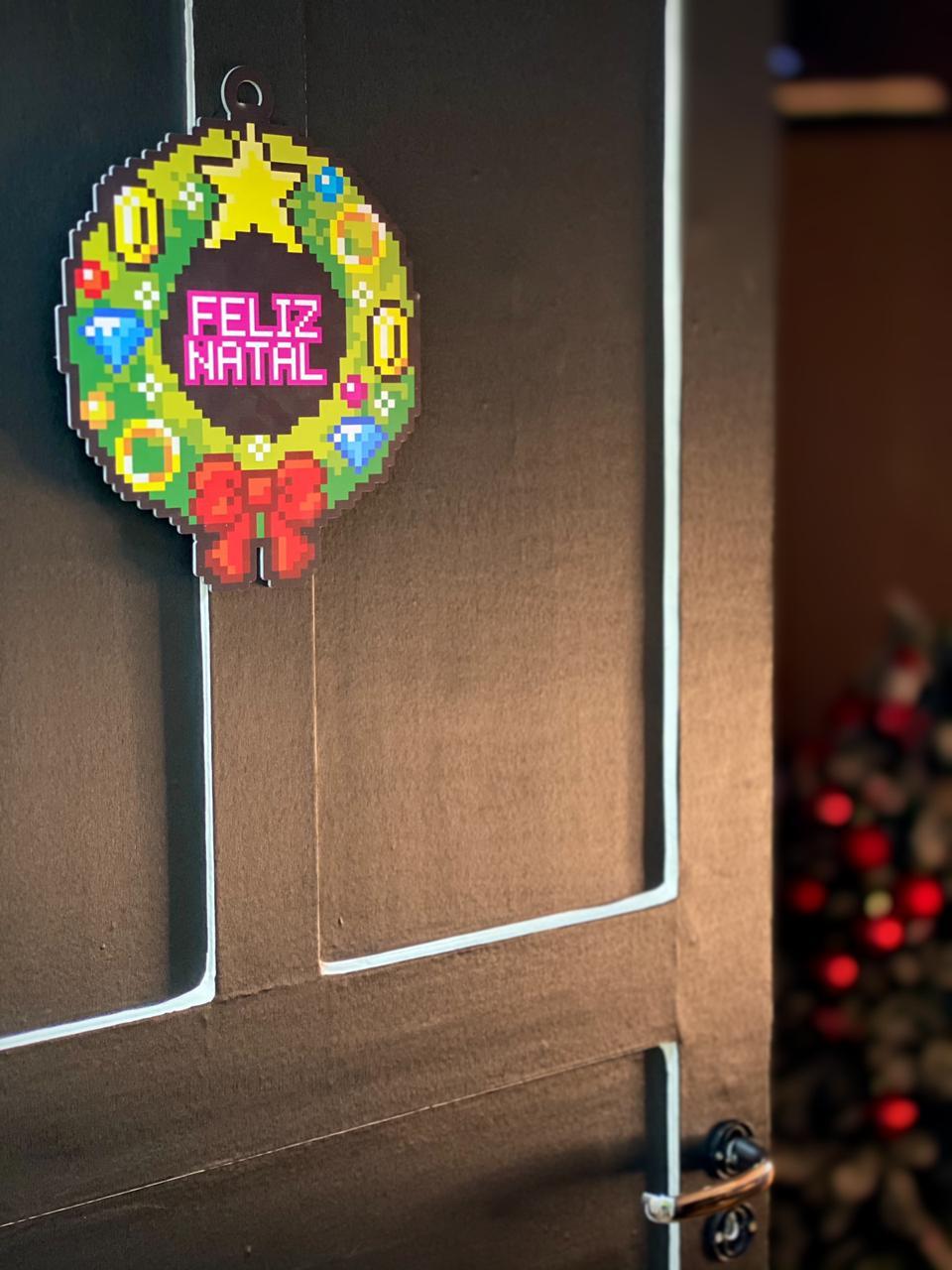Enfeite Árvore de Natal Geek Power-Up Retro