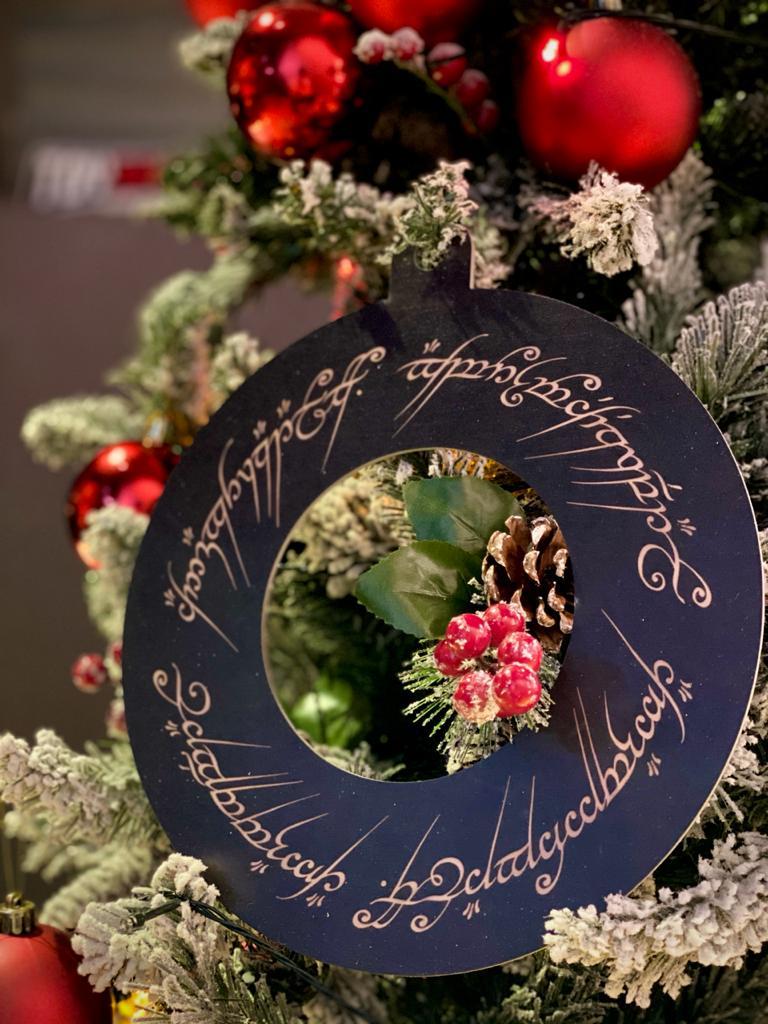 Enfeite Árvore de Natal Geek Senhor Dos Anéis