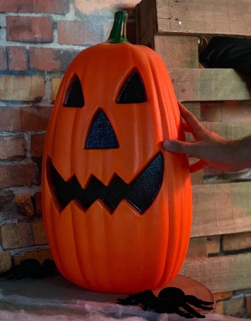 Enfeite Decorativa Abóbora Moranga Alfa Grande: Terror Halloween Dia das Bruxas