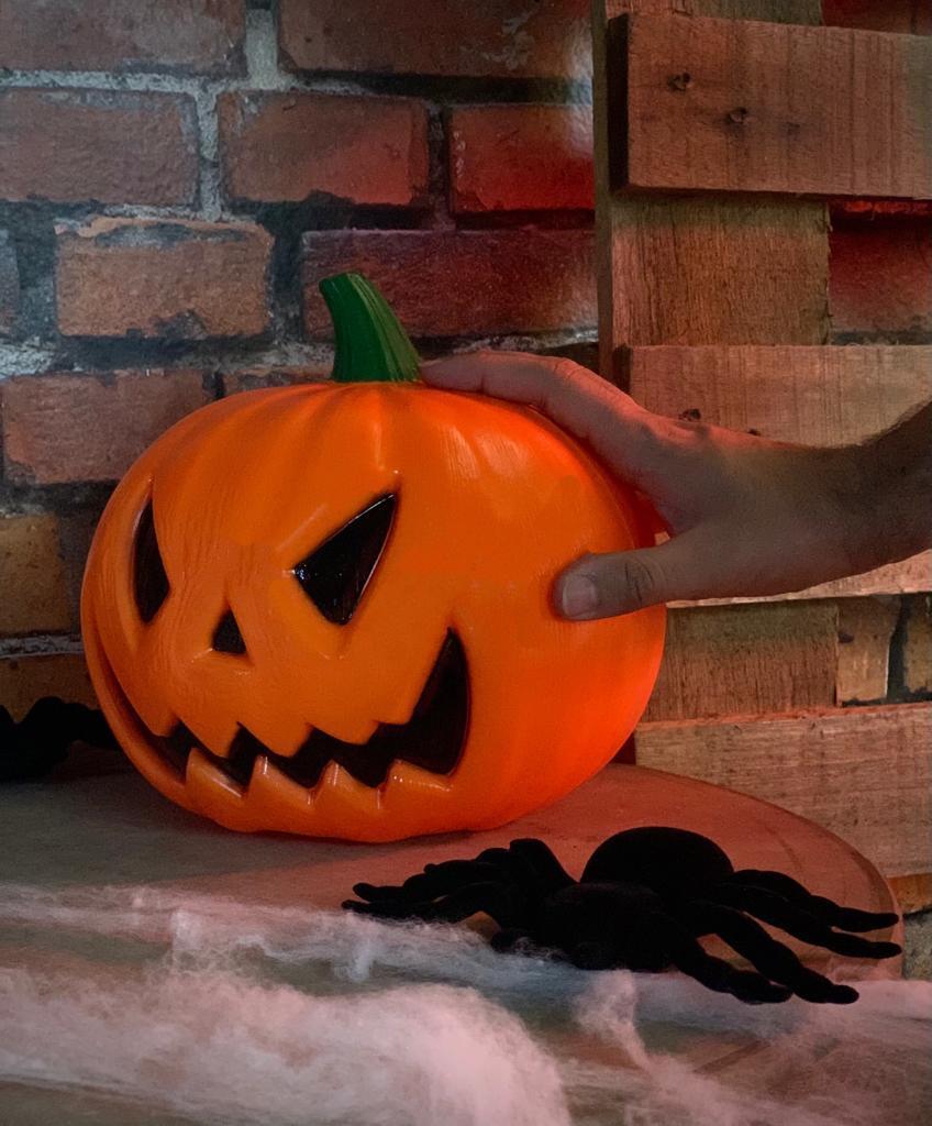 Enfeite Decorativa Abóbora Moranga Beta Pequena: Terror Halloween Dia das Bruxas