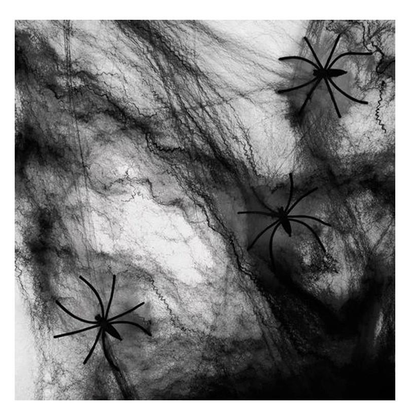 Enfeite Decorativa Teia Preta de Aranha Spider: Terror Halloween Dia das Bruxas