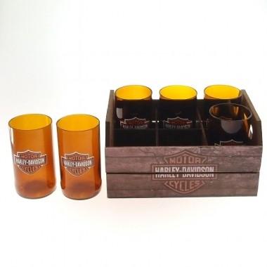 Engradado Harley Davidson (Set de 6 Copos)