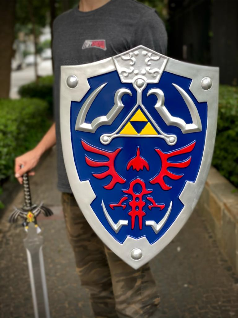 Escudo Zelda Link Hylian: Legend Of Zelda Master Cosplay Azul - EV