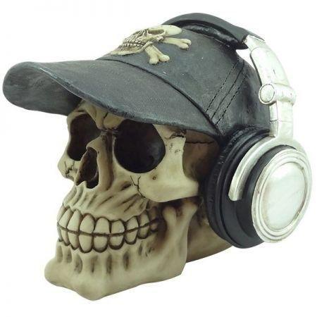 Escultura Caveira Headphone