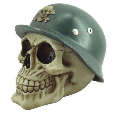 Escultura Caveira Soldier